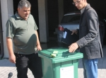Delivering waste containers - Hani i Elezit/Elez Han - Oct2012